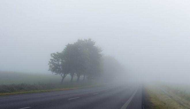 Foto: Șoferi, atenție! Cod galben de ceață, la Constanța!