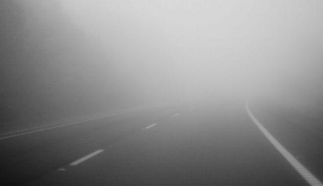 Foto: Cod galben de ceaţă densă, la Constanţa
