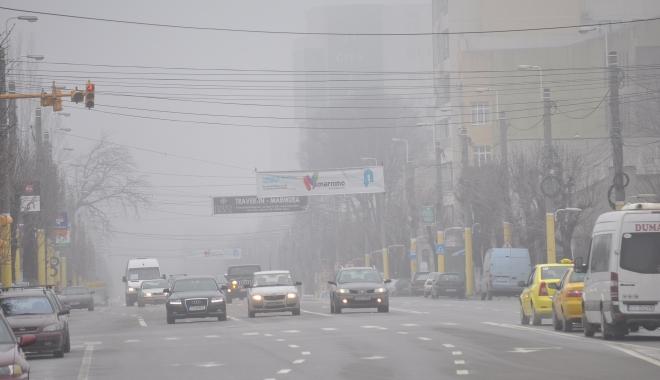 Foto: Cod galben de ceaţă, la Constanţa
