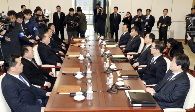 Foto: Cele două Corei redeschid o linie directă de comunicare militară