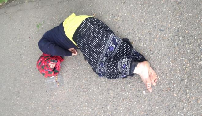 Foto: Cerșetor lovit de o mașină, în zona CET