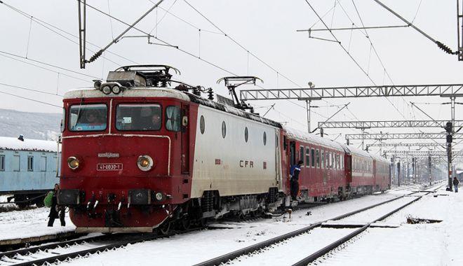 Foto: Traficul feroviar, afectat de vremea nefavorabilă