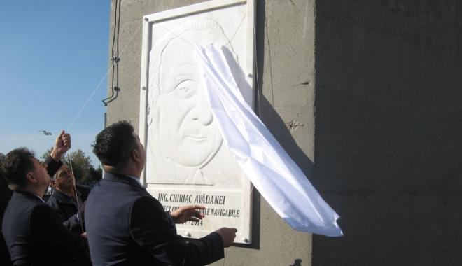 Foto: Chiriac Avădanei, proiectantul canalelor navigabile, omagiat la aniversarea Canalului Poarta Albă - Midia, Năvodari