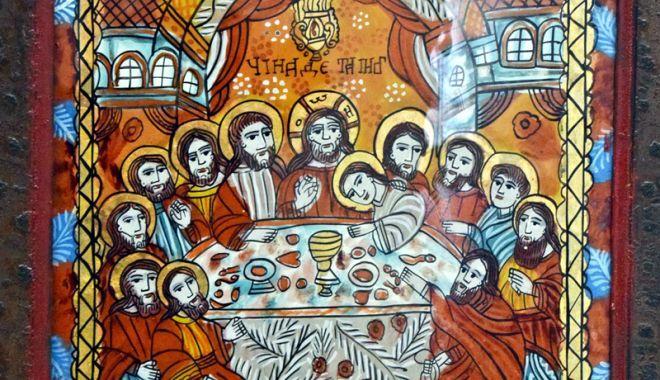 Cina cea de Taină, foarte bine reprezentată pe icoanele  pe sticlă - cinaceadetaina1-1522848878.jpg