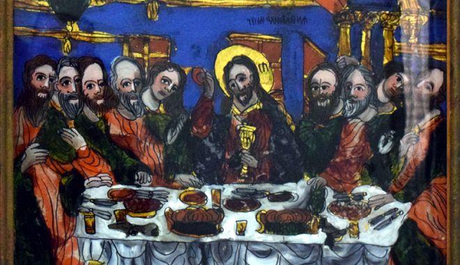 Cina cea de Taină, foarte bine reprezentată pe icoanele  pe sticlă - cinaceadetaina2-1522848897.jpg