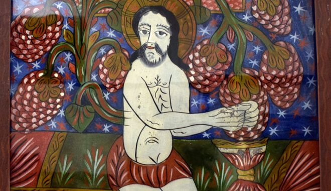 Cina cea de Taină, foarte bine reprezentată pe icoanele  pe sticlă - cinaceadetaina3-1522848911.jpg