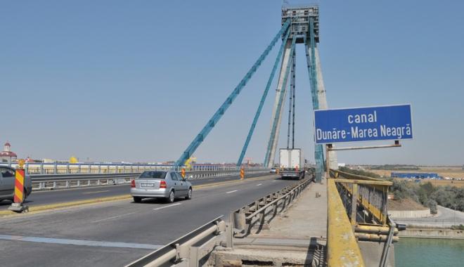 Foto: Circulaţia  pe Podul Agigea  se închide total,  de la 1 septembrie