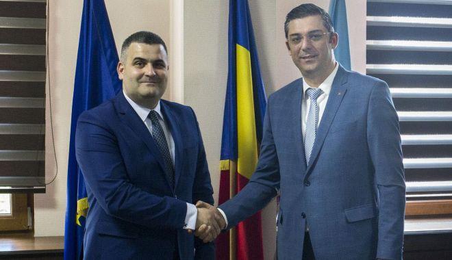 Foto: Șeful CJC, Horia Țuțuianu, întâlnire cu ministrul Apărării, Gabriel Leș