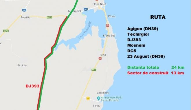 Foto: Gata cu ambuteiajele pe DN 39! CJC vrea să reabiliteze două rute noi spre sudul litoralului