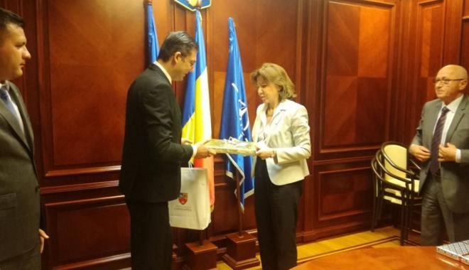 Foto: Ambasadorul Franţei în România,  în vizită la Consiliul Judeţean Constanţa
