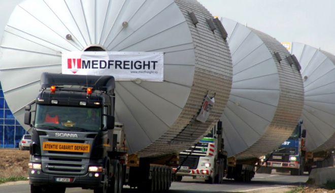 Foto: Atenţie, şoferi!  Trafic îngreunat, transport agabaritic  la Constanţa