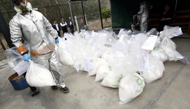Foto: Captură de proporţii în Columbia.  Peste şapte tone de cocaină,  confiscate de autorităţi