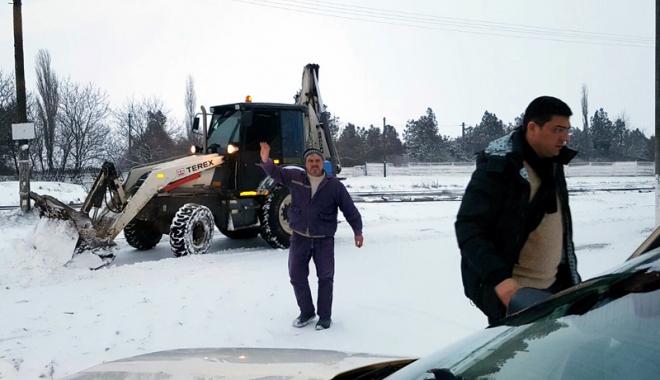 Foto: Cod portocaliu de viscol, la Constanța. Mobilizare generală în rândul autorităților