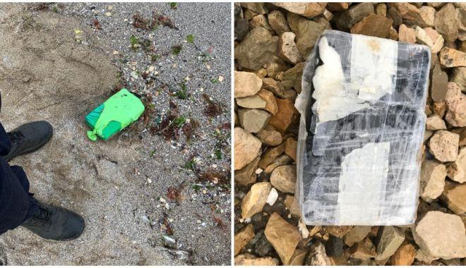 Foto: Noi pachete cu droguri au fost găsite pe litoralul Mării Negre, în Bulgaria