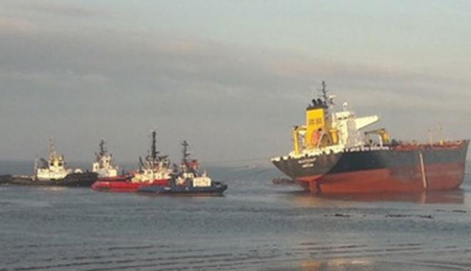 Foto: Coliziune navală în estuarul râului Scheldt, din Olanda