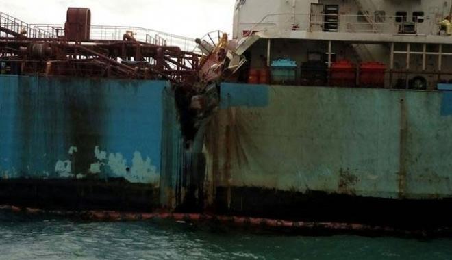 Foto: Coliziune între o navă LPG şi un tanc de produse petroliere