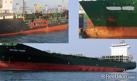 Foto: Coliziune între un portcontainer german şi un tanc chimic coreean