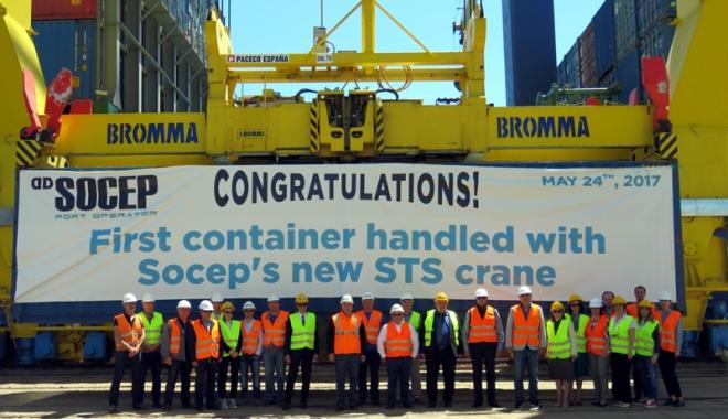 Foto: Compania Socep a deschis un nou capitol în istoria traficului de containere de la Marea Neagră