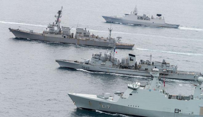 Foto: Concentrare de forţe în Marea Neagră,  sub conducerea Marinei Militare Române