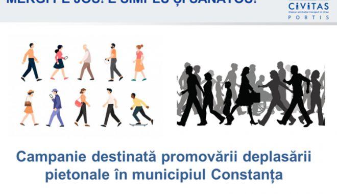 """Foto: Concursul """"Mergi pe Jos! E simplu și sănătos!"""" încurajează mobilitatea pietonală"""