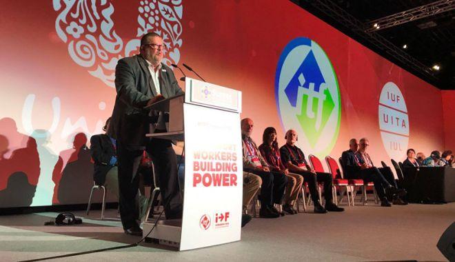 Foto: Conducerea SLN participă  la Congresul ITF,  din Singapore