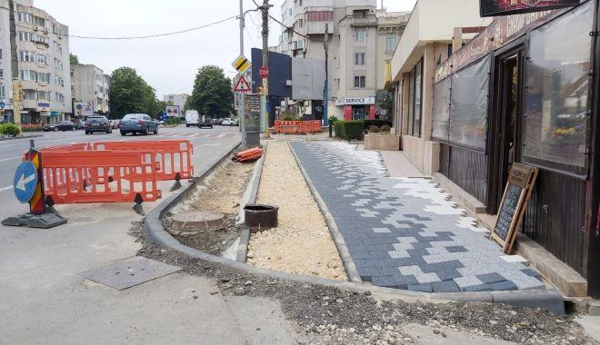 Foto: Confort Urban continuă lucrările de modernizare a bulevardului Mamaia