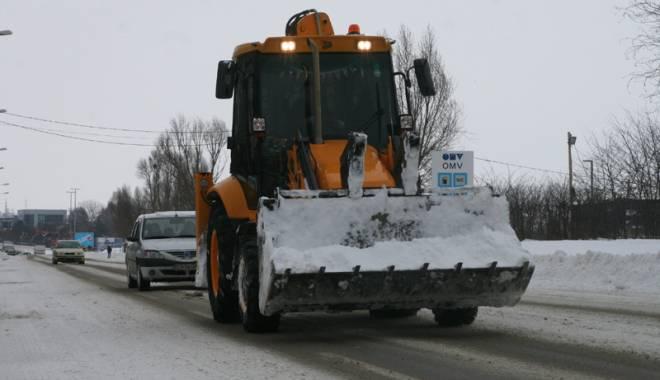 Foto: Iarna la Constanţa. Ce măsuri au luat autorităţile, după prima ninsoare