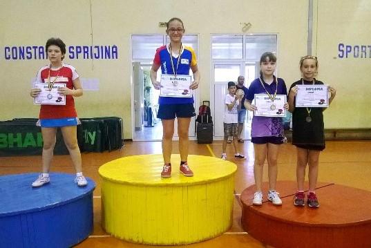 Foto: Constanţa are  o dublă campioană naţională  la tenis de masă