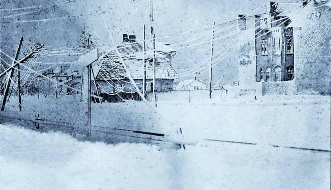 Foto: CONSTANŢA VECHE / Iarna la malul mării, în 1929