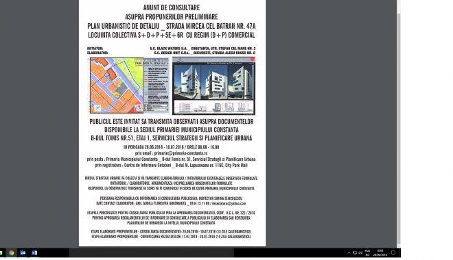 Foto: Consultare publică privind ridicarea unui bloc pe strada Mircea cel Bătrân