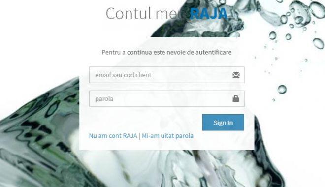 Foto: Cont online RAJA, pentru evidenţa facturilor şi a consumului de apă