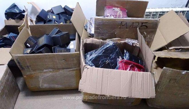 Foto: Mii de articole textile, încălţăminte şi parfumuri, confiscate la frontieră