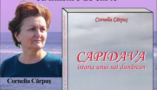 """Foto: Cornelia Cărpuș lansează volumul """"Capidava istoria unui sat dunărean"""""""