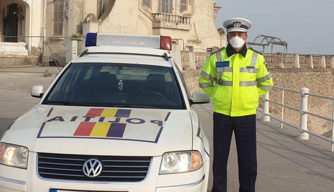 """Foto: Poliția răspunde! """"Pot să îmi duc soția la muncă cu mașina?"""""""