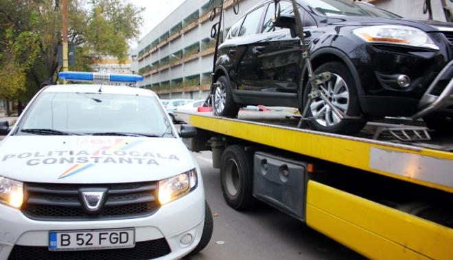 Foto: Atenție, constănțeni! Încă puţin şi începe ridicarea mașinilor staționate neregulamentar
