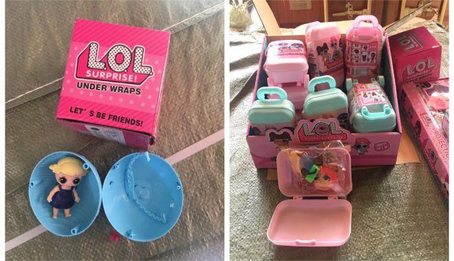 Foto: Cosmetice şi jucării contrafăcute, confiscate în Portul Agigea