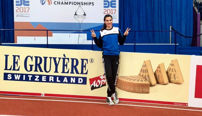 Foto: Cristina Bujin, prezentă  la Campionatul  European indoor