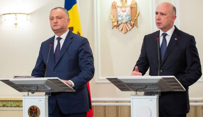 Foto: Criză în Republica Moldova. Igor Dodon a anulat deciziile lui Pavel Filip