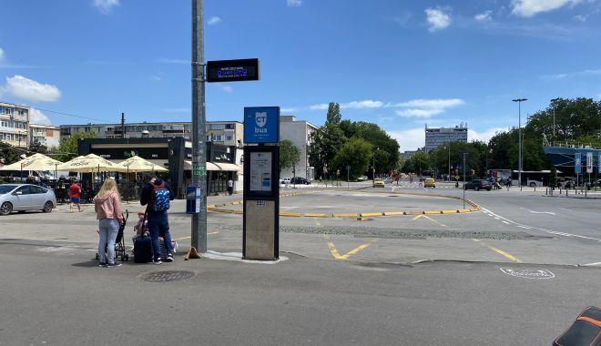 CT BUS. Staţia liniei 100, mutată în faţa Gării Constanţa