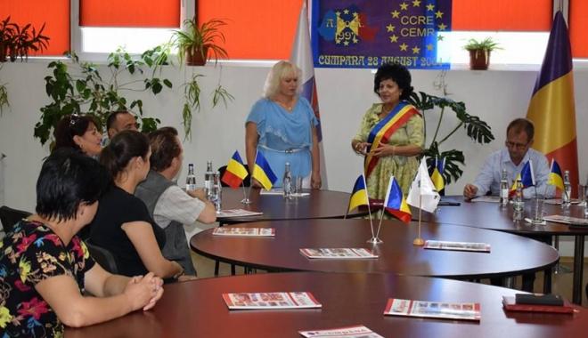 Foto: Localitatea Cumpăna  s-a înfrăţit  cu o comună  din Ucraina