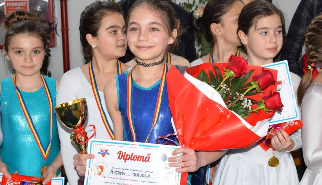 """Foto: Izabela Muşuroi a câştigat """"Cupa Primăverii"""" la gimnastică ritmică"""