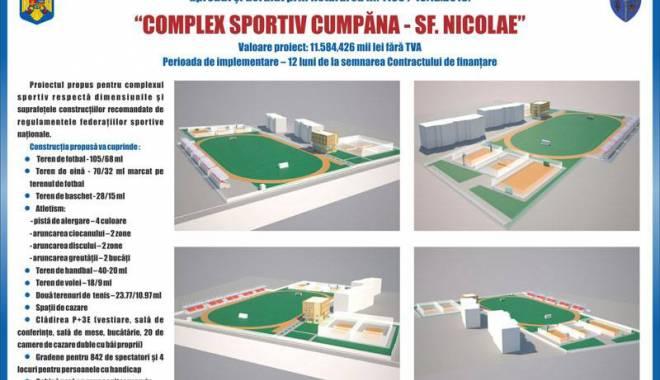 Foto: O nouă investiţie  la Cumpăna. Localnicii vor avea un complex sportiv