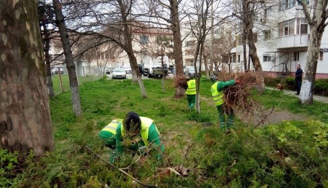 Foto: Curăţăm Constanţa noastră! Angajaţii de la salubrizare, mobilizaţi