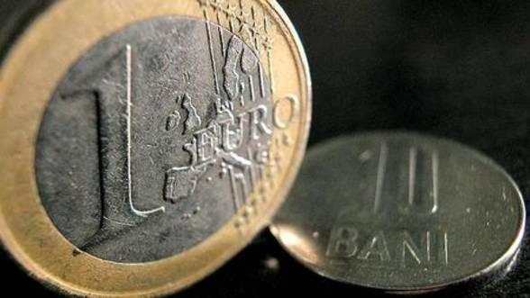 Foto: Moneda naţională s-a apreciat până la un curs de referinţă de 4,4616 lei/euro