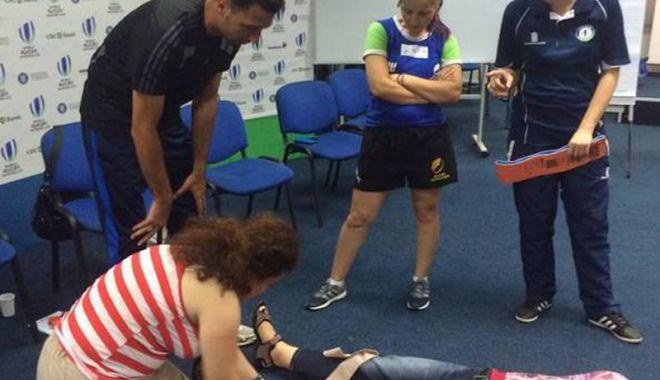 Foto: Cursuri de prim ajutor certificate World Rugby,  în această lună,  la Constanţa