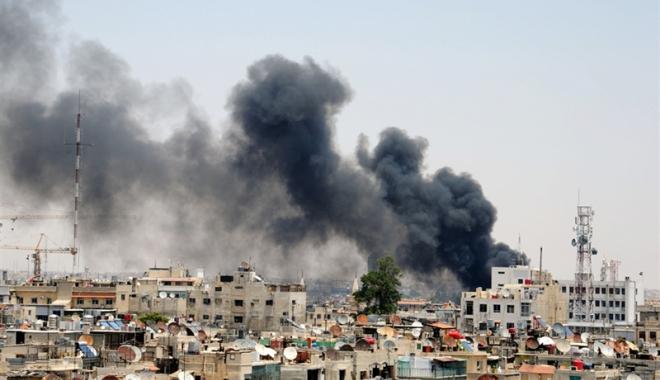 Foto: Damascul, zguduit  de explozii  violente