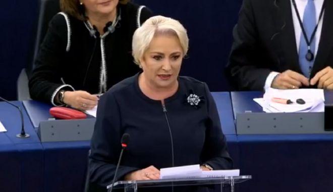 Foto: Dăncilă va prezenta în Parlamentul European prioritățile Președinției României la Consiliul UE