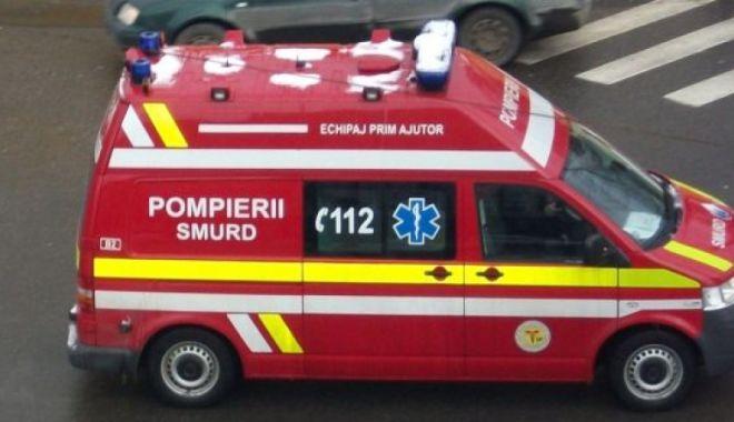 Foto: INCENDIU ÎN CONSTANȚA! Femeie transportată de urgență la spital