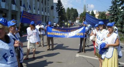 Foto: Sindicaliştii din învăţământ organizează marş de protest
