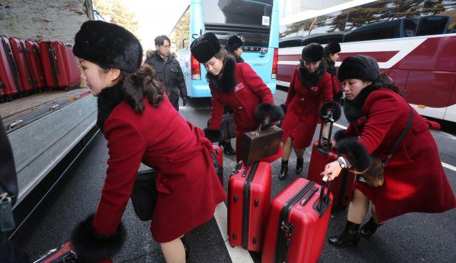 Foto: Delegaţia Coreei de Nord a sosit în Coreea de Sud
